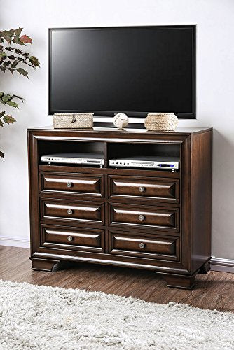 Brandt Brown Cherry Wood TV Chest by Furniture of America