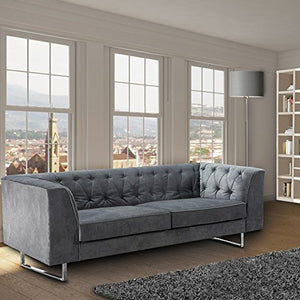 ARMEN LIVING 309 Troika Sofa, Charcoal