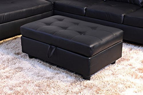 Beverly Fine Funiture CT91B Sectional Sofa Set, 91B Black