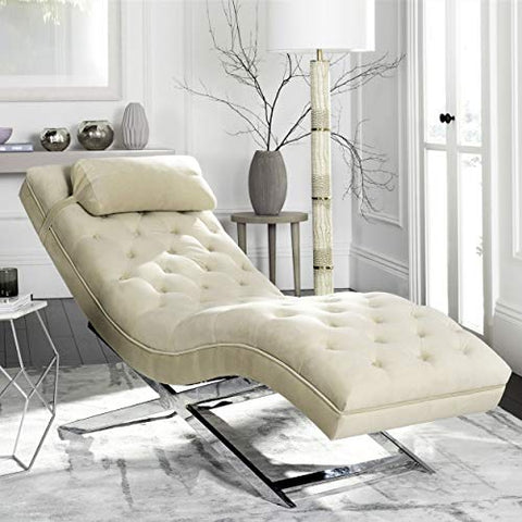Safavieh FOX6286A Chaise, Normal, Beige
