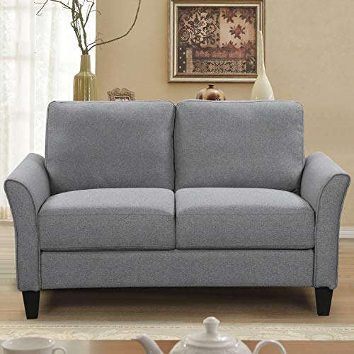 Living Room Sets Furniture Armrest Sofa Single Chair Sofa Loveseat Chair 3-Seat Sofa (Chair&Loveseat&3-Seat, Light Grey)