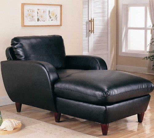 CHAISE/BLACK FINISH 38-1/2′′x62-1/2′′x36′′H