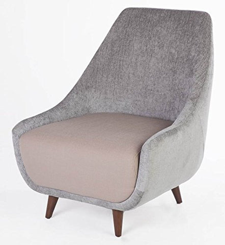 Stilnovo FXC201GREY Callie Lounge Chair, Single, Grey