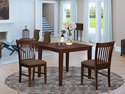 3 Pc small Kitchen Table set -square Table and 2 Kitchen Dining Chairs