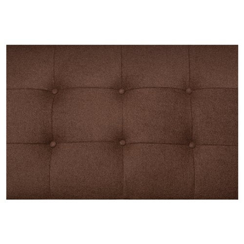LeisureMod Florence Style Mid Century Modern Tufted Loveseat Sofa in Chocolate Brown