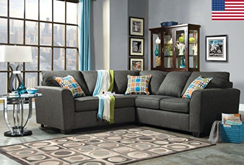 Esofastore Sectional Sofa Living Room Furniture Pillows Loveseat Sofa Couch Gray Modern Couch
