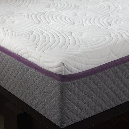 Sleep Innovations Alden 14-inch Memory Foam Mattress, Bed in a Box, Quilted Cover, Made in the USA, 10-Year Warranty - Full Size