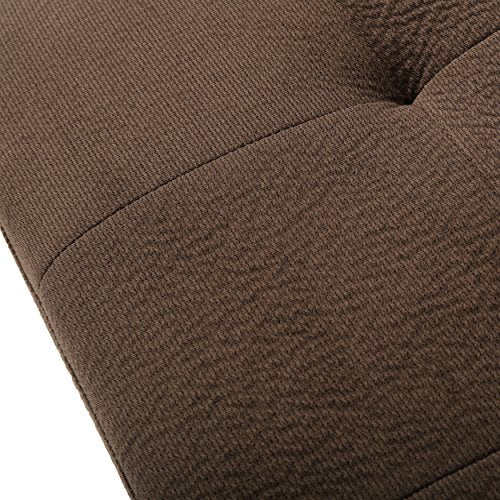 Great Deal Furniture Welsh Chocolate Fabric Sectional Sofa Set