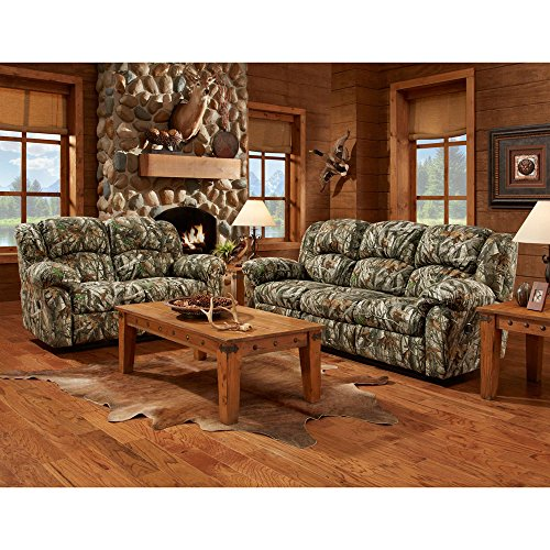 Cambridge 98507DRL-CA Camo Double Reclining Love Seats, Green