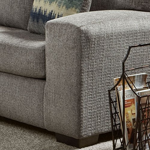 Roundhill Furniture LAF5950SP Bergen Fabric Sectional Sofa