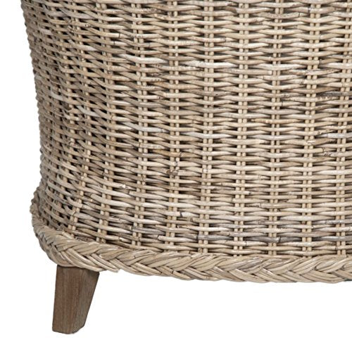Coja by Sofa4life Kendell Linen Wicker Club Chair, Natural