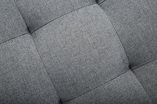 Velago 1913 Attalens Convertible Sectional Sleeper Sofa, Dark Gray