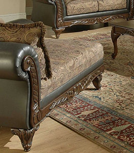 Serta Upholstery 7685FRCHS 7685FRCHS06 Traditional Style Chaise in SanMar, Chocolate