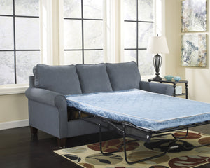 Ashley Furniture Signature Design - Zeth Sleeper Sofa - Full Size - Easy Lift Mechanism - Contemporary Living - Denim