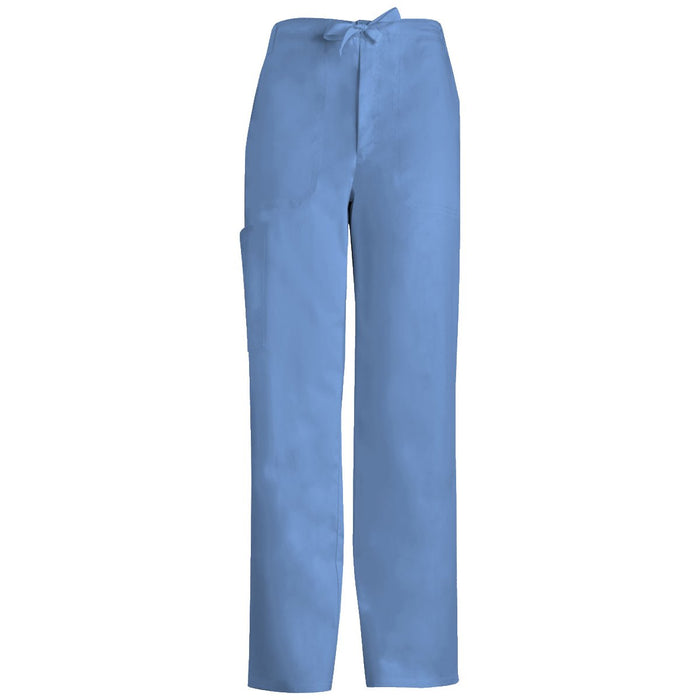 Cherokee Luxe 1022 Scrubs Pants Men's Fly Front Drawstring Ciel Blue