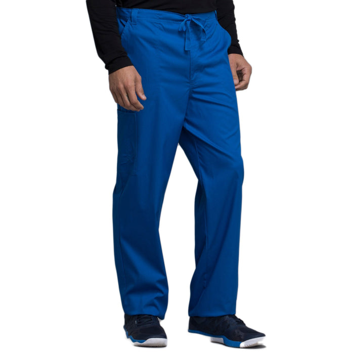 Cherokee Luxe 1022 Scrubs Pants Men's Fly Front Drawstring Royal 3XL