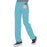 Cherokee Infinity 1123A Scrubs Pants Women's Low Rise Straight Leg Drawstring Teal Blue