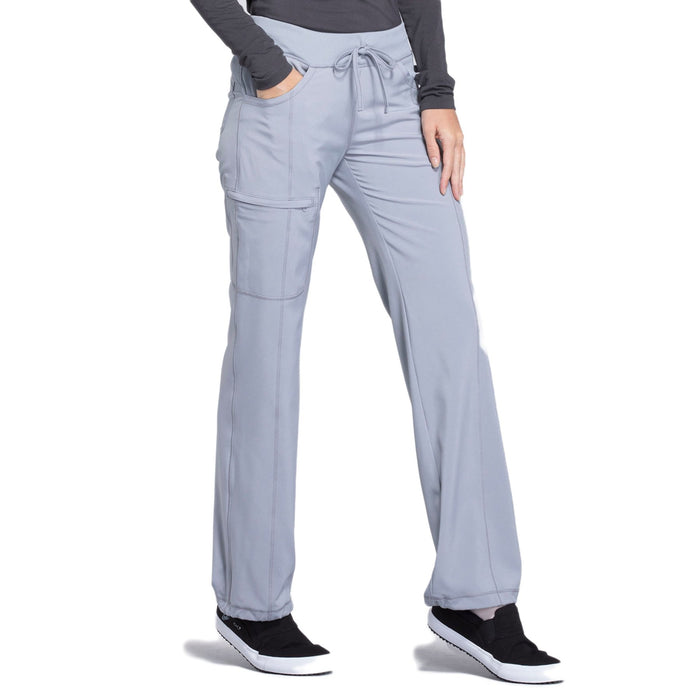 Cherokee Infinity 1123A Scrubs Pants Women's Low Rise Straight Leg Drawstring Grey 3XL