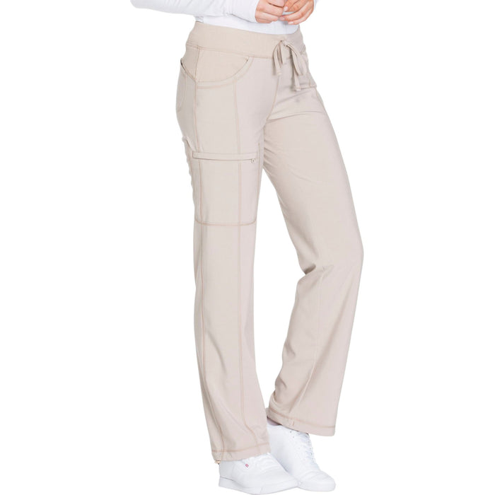 Cherokee Infinity 1123A Scrubs Pants Women's Low Rise Straight Leg Drawstring Khaki 3XL