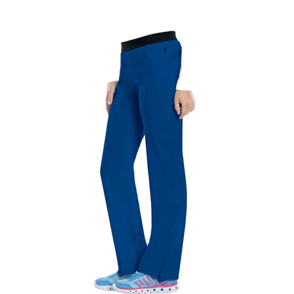 Cherokee Infinity 1124A Scrubs Pants Women's Low Rise Slim Pull-On Royal