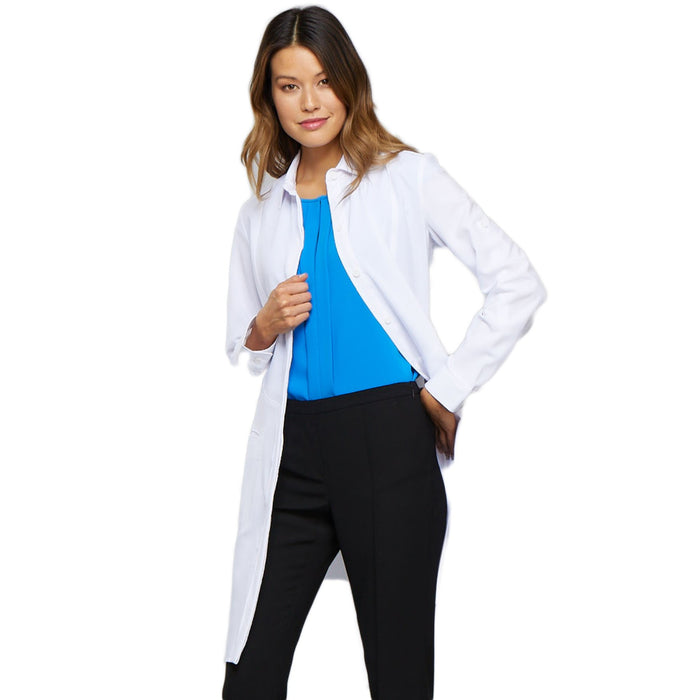 "Cherokee Infinity 1401A Lab Coat Women's 40"" White L"