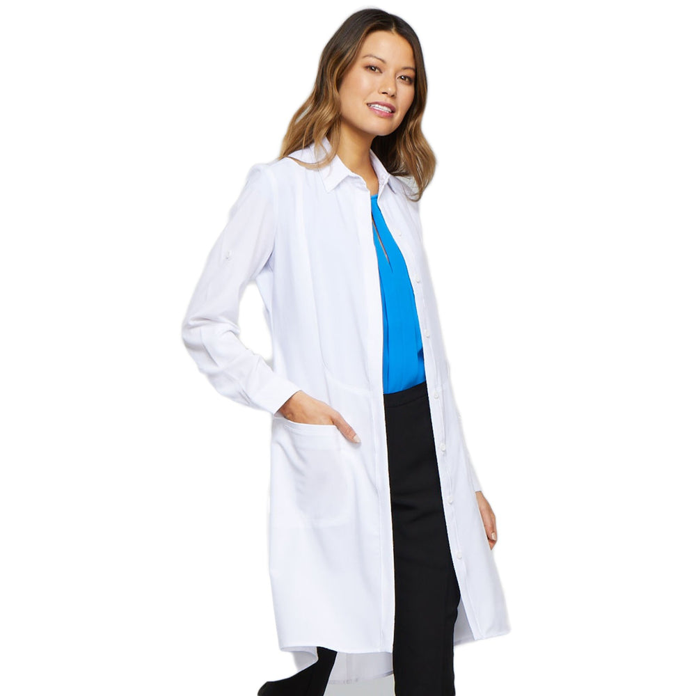 "Cherokee Infinity 1401A Lab Coat Women's 40"" White"