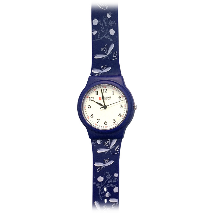 Prestige Basic Scrub Watch Dragonflies Navy