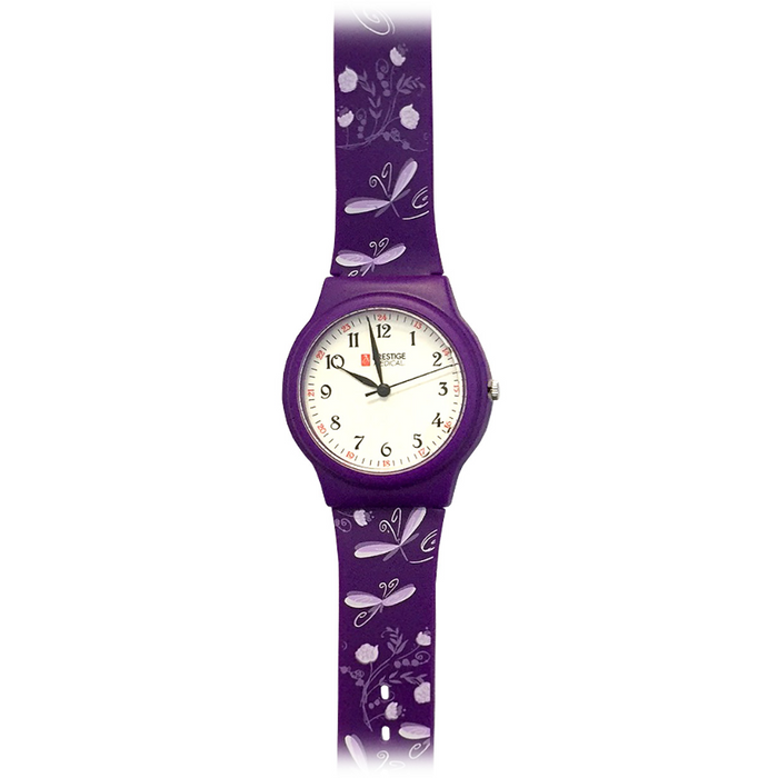 Prestige Basic Scrub Watch Dragonflies Purple