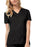 Cherokee Luxe 1845 Scrubs Top Women's V-Neck Black
