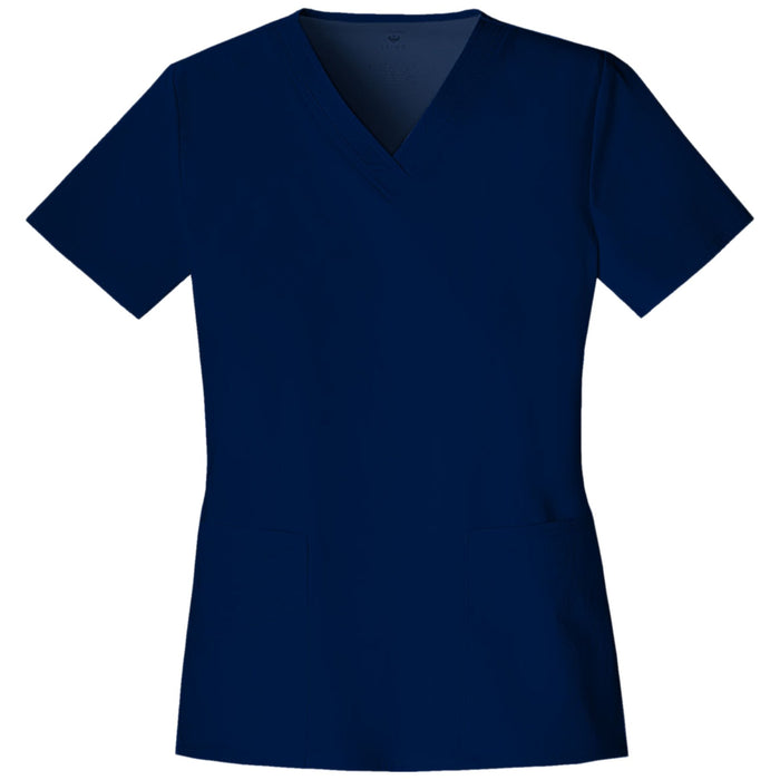 Cherokee Luxe 1845 Scrubs Top Women's V-Neck Navy
