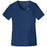 Cherokee Luxe 1999 Scrubs Top Women's Crossover V-Neck Pin-Tuck Navy