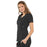 Cherokee Luxe 21701 Scrubs Top Women's Empire Waist Mock Wrap Black 3XL