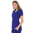 Cherokee Luxe 21701 Scrubs Top Women's Empire Waist Mock Wrap Galaxy Blue