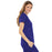 Cherokee Luxe 21701 Scrubs Top Women's Empire Waist Mock Wrap Galaxy Blue 3XL