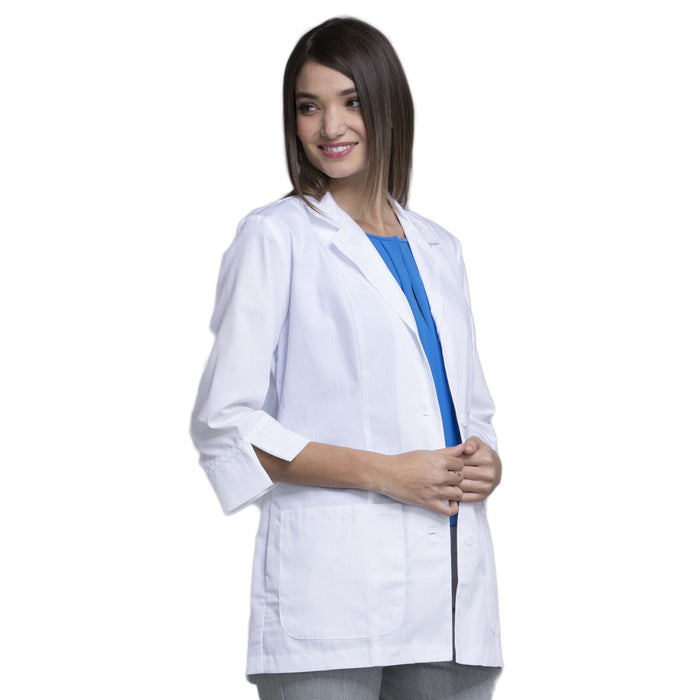 "Cherokee Workwear Professionals 2330 Lab Coat Women's 29"" 3/4 Sleeve White 3XL"