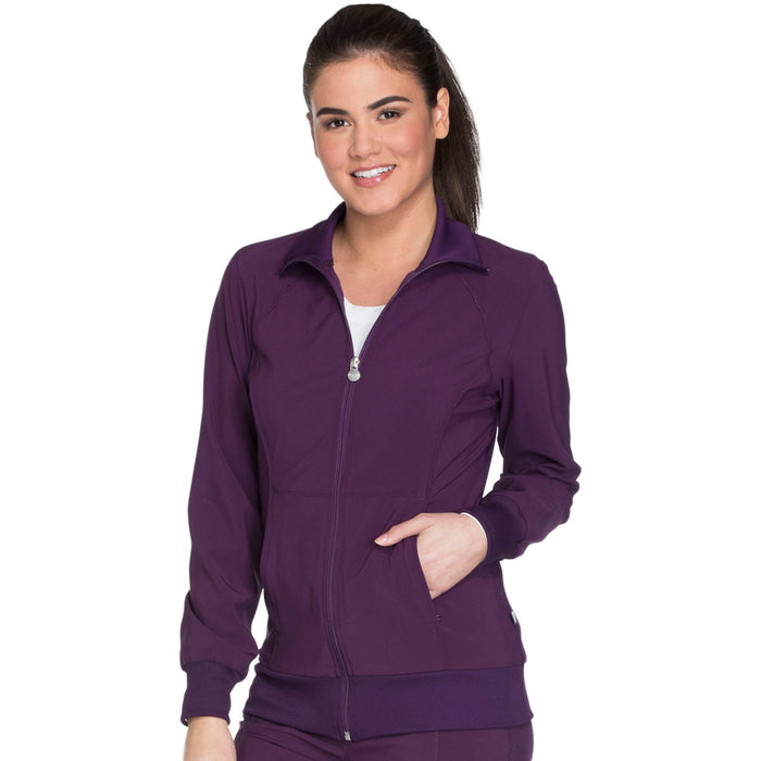 Cherokee Infinity 2391A Scrubs Jacket Women's Zip Front Warm-Up Eggplant 3XL