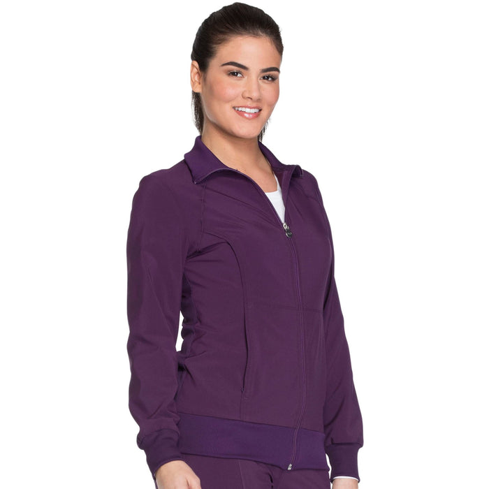 Cherokee Infinity 2391A Scrubs Jacket Women's Zip Front Warm-Up Eggplant 4XL
