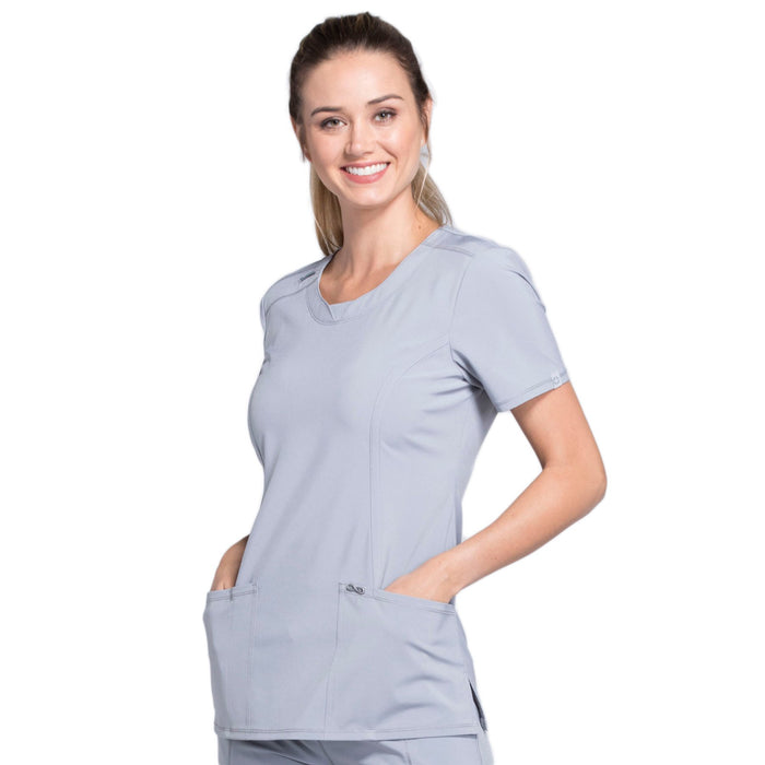 Cherokee Infinity 2624A Scrubs Top Women's Round Neck Grey 3XL