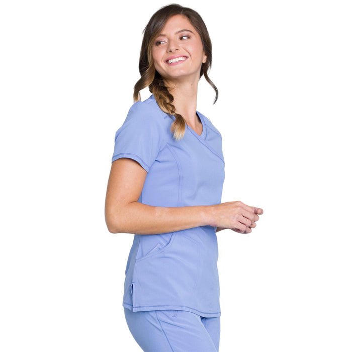 Cherokee Infinity 2625A Scrubs Top Women's Mock Wrap Ciel Blue 5XL