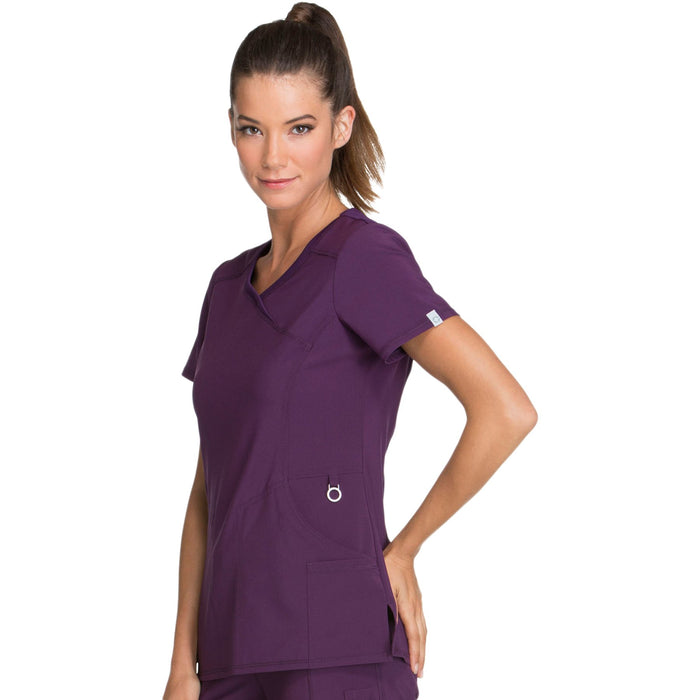 Cherokee Infinity 2625A Scrubs Top Women's Mock Wrap Eggplant 3XL