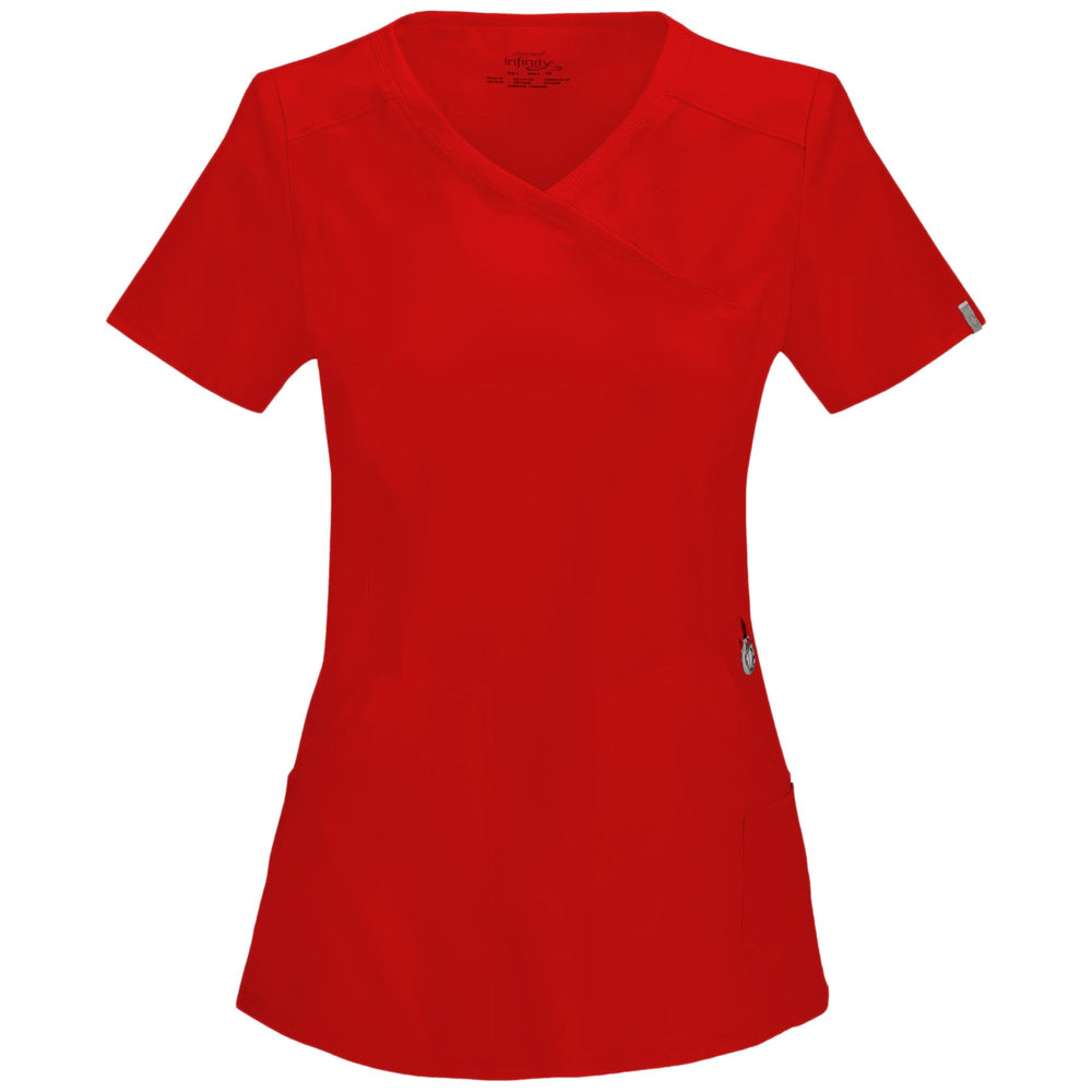 Cherokee Infinity 2625A Scrubs Top Women's Mock Wrap Red