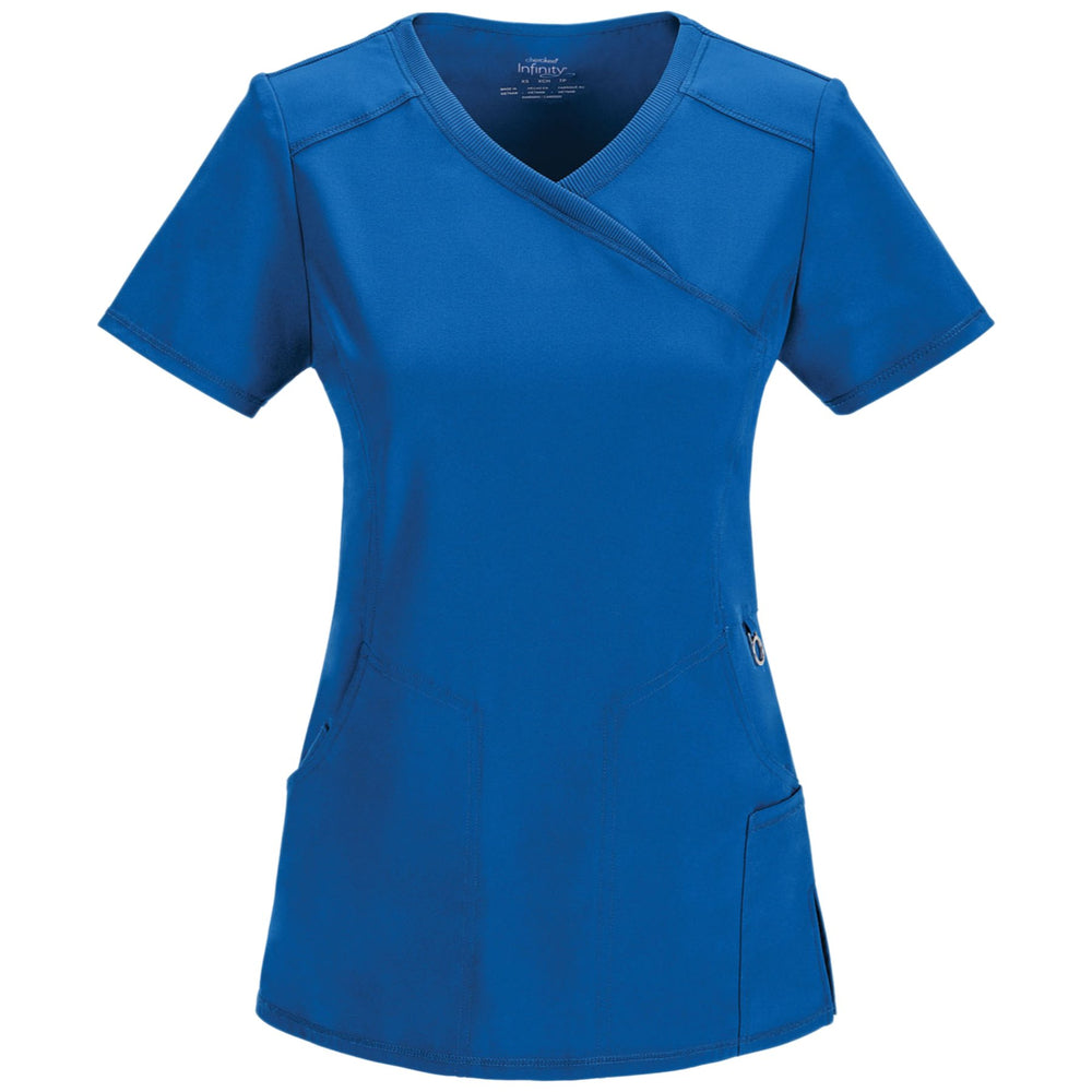 Cherokee Infinity 2625A Scrubs Top Women's Mock Wrap Royal