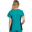 Cherokee Flexibles 2874 Scrubs Top Women's V-Neck Knit Panel Teal Blue 3XL