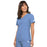 Cherokee Flexibles 2968 Scrubs Top Women's V-Neck Knit Panel Ciel Blue 3XL