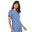 Cherokee Flexibles 2968 Scrubs Top Women's V-Neck Knit Panel Ciel Blue 4XL