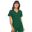 Cherokee Flexibles 2968 Scrubs Top Women's V-Neck Knit Panel Hunter Green