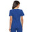 Cherokee Flexibles 2968 Scrubs Top Women's V-Neck Knit Panel Royal 3XL