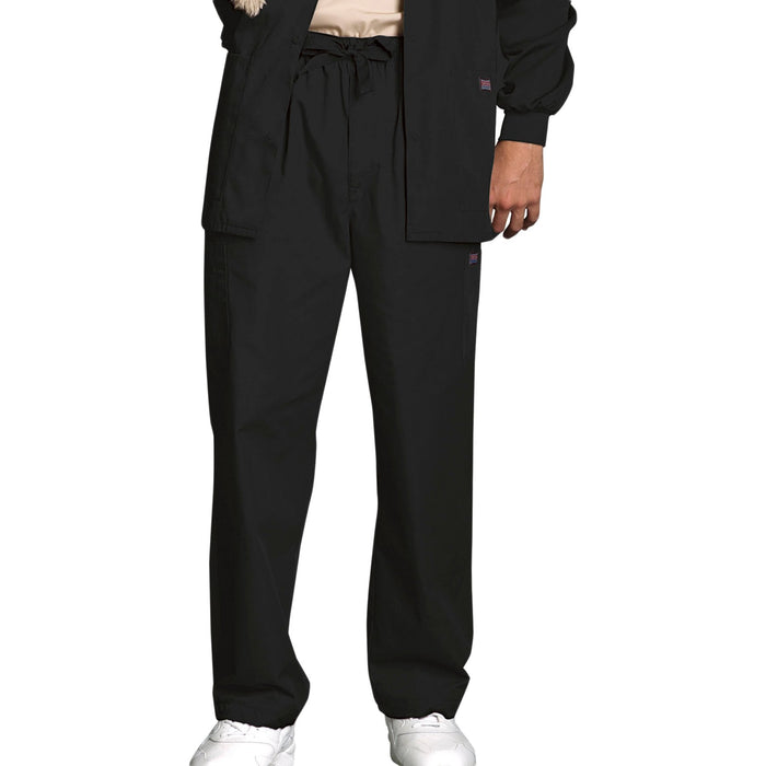 Cherokee Workwear 4000 Scrubs Pants Men's Drawstring Cargo Black