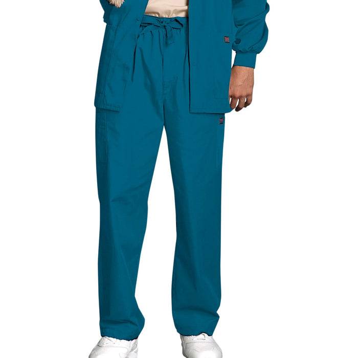 Cherokee Workwear 4000 Scrubs Pants Men's Drawstring Cargo Caribbean Blue