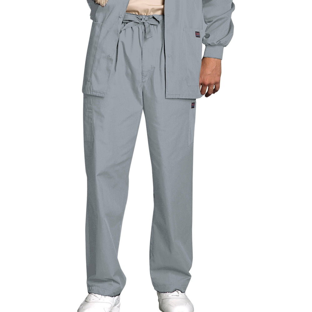 Cherokee Workwear 4000 Scrubs Pants Men's Drawstring Cargo Grey